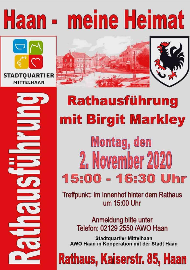 Plakat Rathausführung Haan